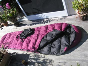 sleeping bag down